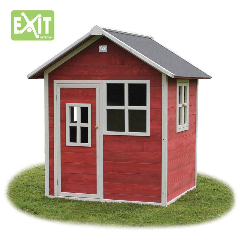 Exit Loft 100 legehus -140,5x149x160 cm rødt