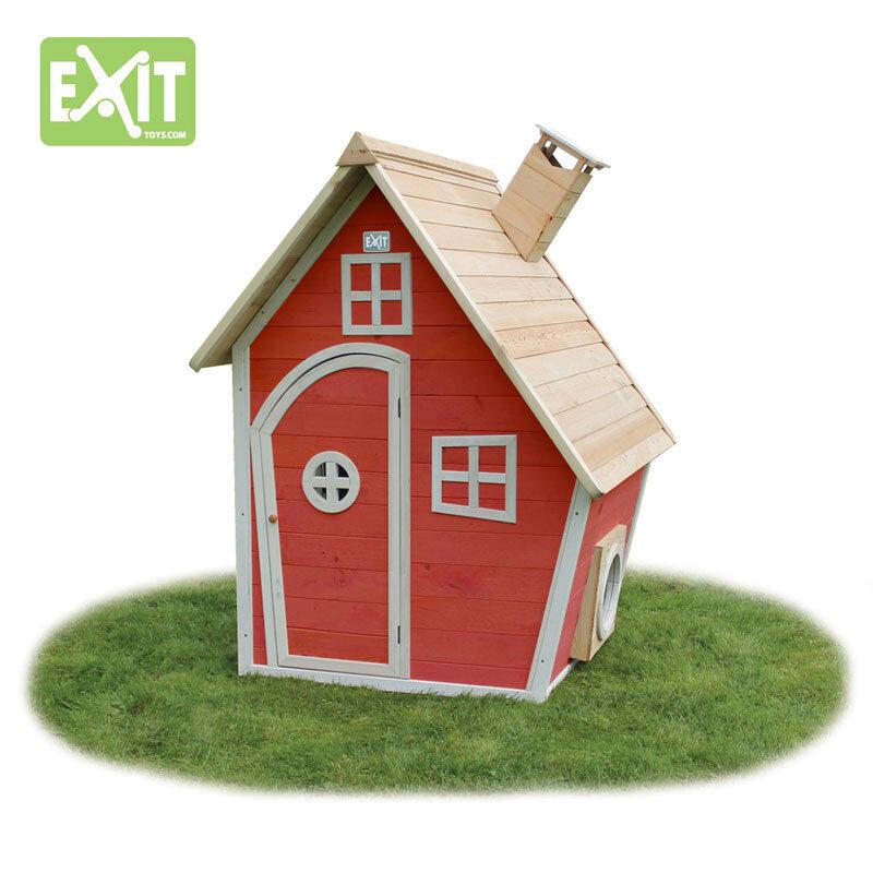 Exit Fantasia 100 rødt legehus 125x133x158 cm