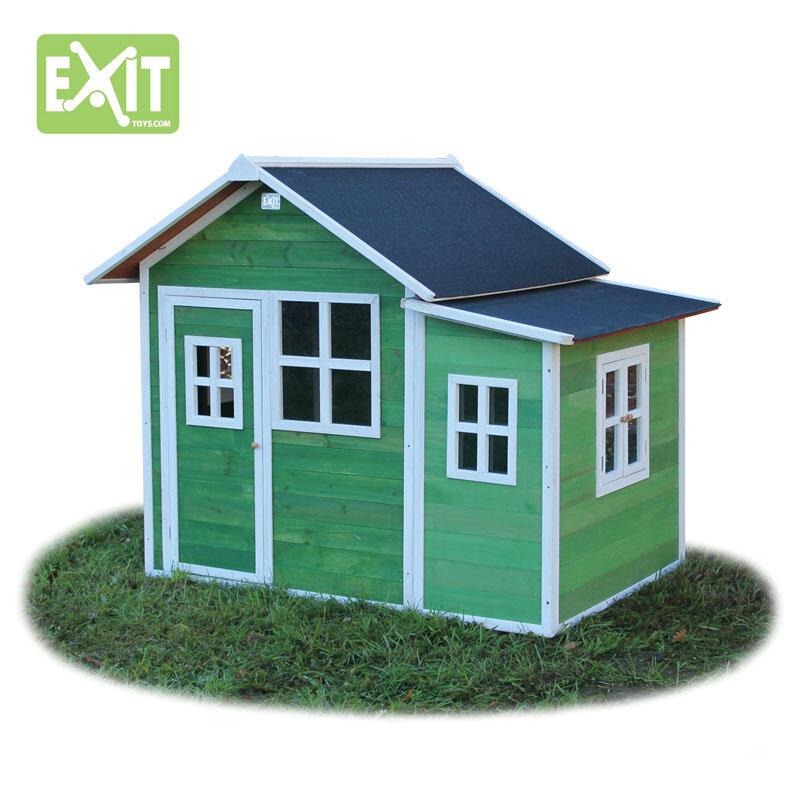 Exit Loft 150 grønt legehus -149x191x160 cm