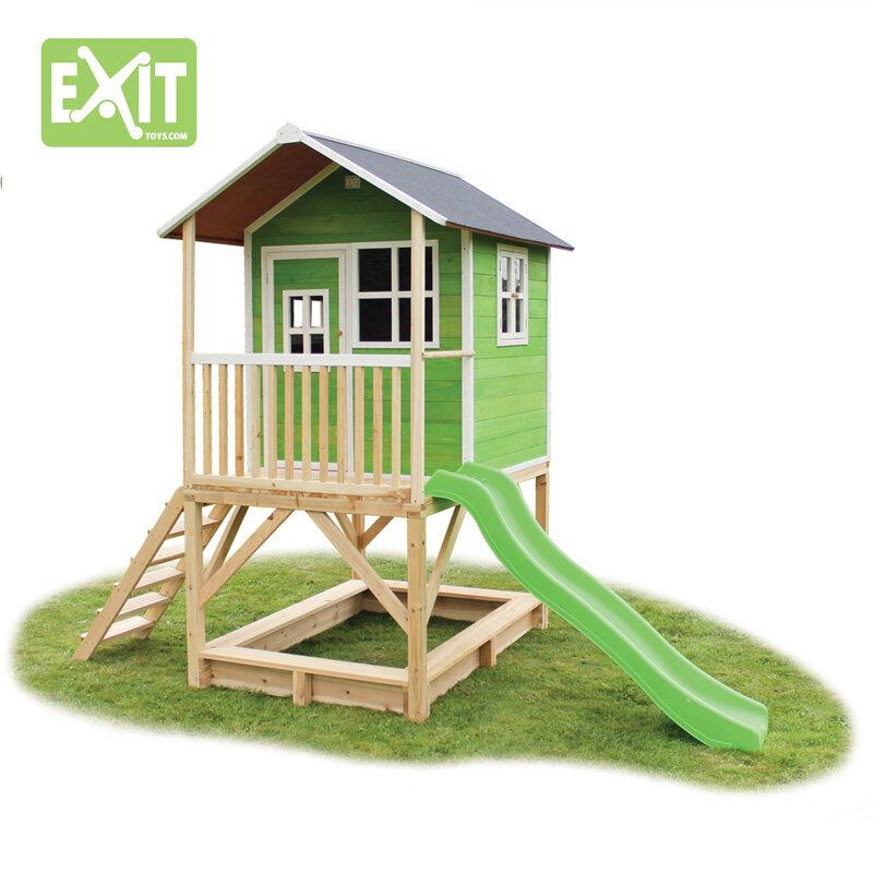 Exit Loft 500 grønt legehus - 328x185x255 cm