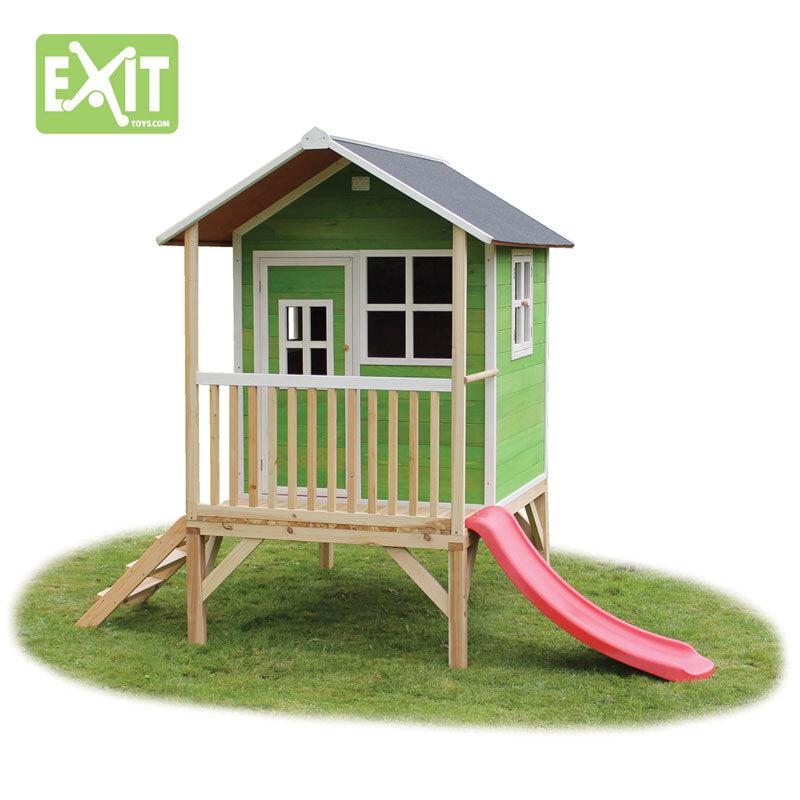 Exit Loft 300 grønt legehus - 260x185x225 cm
