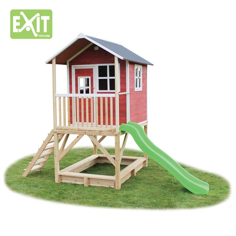 Exit Loft 500 rødt legehus - 328x185x255 cm