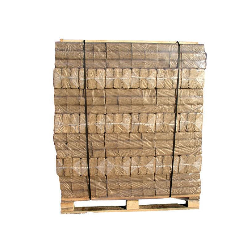 Billede af Lyse træbriketter helpalle med 96 pakker