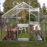 Juliana Junior 9,9 m² - drivhus alu. 3 mm delt glas ¤