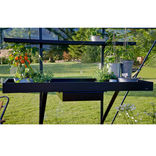 Juliana drivhusbord integreret 2 sektioner - sort ¤
