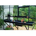 Juliana drivhusbord integreret 3 sektioner - sort ¤