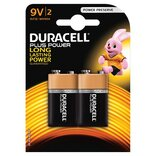 Duracell batteri Plus Power 6LR61 9V - 2 stk. pk