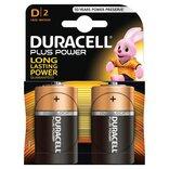 """Duracell batteri Plus Power LR20 """"D"""" 1,5V - 2 stk. pk."""