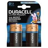 """Duracell batteri Ultra Power LR20 """"D"""" 1,5V - 2 stk. pk."""