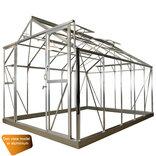 Elmholm Standard 11,66 m² drivhus. Antracit med 3 mm hærdet glas