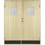 Plus udhusdør dobbelt m/vindue - 151,2x187,8 cm ¤