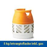 Kosangas 5 kg letvægtsflaske inkl. gas