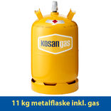 Kosangas 11 kg metalflaske inkl. gas