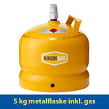 Kosangas 5 kg metalflaske inkl. gas
