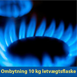 Ombytning 10 kg Kosangas letvægtsflaske