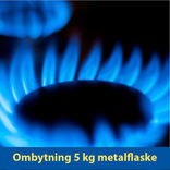 Ombytning 5 kg Kosangas stålflaske