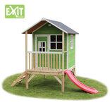 Exit Loft 300 grønt legehus - 260x185x225 cm ¤