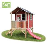 Exit Loft 300 rødt legehus - 260x185x225 cm ¤