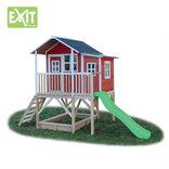 Exit Loft 550 rødt legehus - 348x220x255 cm ¤