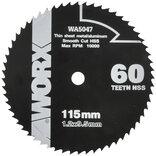 Worx rundsavsklinge Ø115x9,5x1,2 mm 60T