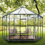 Halls Atrium 9,0 m² grønlakeret med 3mm hærdet glas ¤