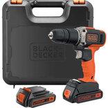 Black&Decker akku slagboremaskine 18V 2x1,5 Ah i kuffert BCD003C2K-QW