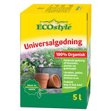 ECOstyle 100% organisk universalgødning 5 ltr. Bag in Box