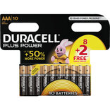 Duracell Power Plus batterier AAA 8+2 stk. pk.