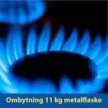 Ombytning 11 kg Kosangas metalflaske