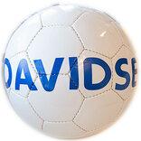 Læderfodbold med Davidsen logo