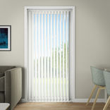 Debel lamelgardin komplet Line, hvid 100x250 cm. ¤