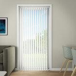 Debel lamelgardin komplet Line, hvid 150x250 cm. ¤