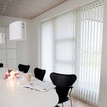 Debel lamelgardin komplet Line, hvid 240x250 cm. ¤