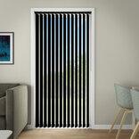 Debel lamelgardin komplet Line, sort 100x250 cm. ¤