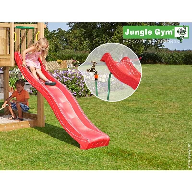 Jungle Gym rutsjebane rød 2,2 m