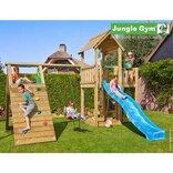 Jungle Gym Mansion legetårn m/klatrevæg og gynge ¤