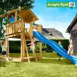 Jungle Gym Chalet legetårn m/blå rutschebane ¤