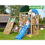 Jungle Gym Farm legetårn m/klatrevæg og gynge ¤