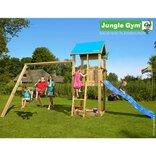 Jungle Gym Castle legetårn m/gyngemodul og 2 gynger ¤