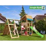 Jungle Gym Home legetårn m/klatrevæg og gynge ¤
