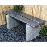 Granit bænk - Triangel - grå/sort ¤