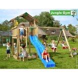 Jungle Gym Chalet legetårn m/gyngemodul og 2 gynger ¤