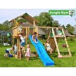 Jungle Gym Chalet legetårn m/klatrevæg og gynge ¤