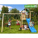 Jungle Gym Lodge legetårn m/gyngemodul og 2 gynger ¤