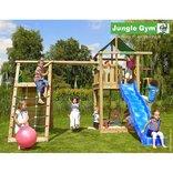 Jungle Gym Lodge legetårn m/klatrevæg og gynge ¤