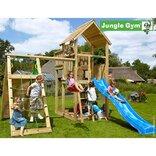 Jungle Gym Palace legetårn m/klatrevæg og gynge ¤