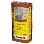 Weber Multi 280 grå hæftemørtel / tyndpuds 25 kg ~