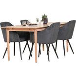 Ava spisebord med 4 grå Ingrid stole