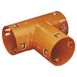 Wavin dræn grenrør PVC 90°x80x50 mm ~
