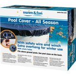 Pool vintercover m/wirelås 6,1x3,75 m ¤